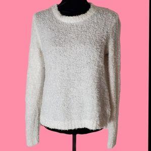 Divided Eyelash Sweater Size M